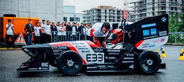 Elektrisch angetriebene Rennwagen der ETH Zürich